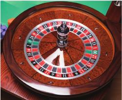 An average American Roulette wheel